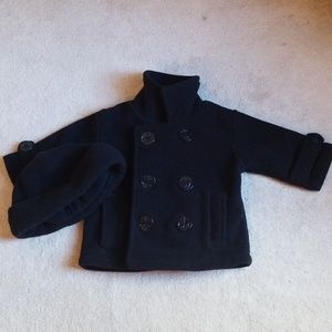 Starting Out Pea Coat and Cap Set - 12M